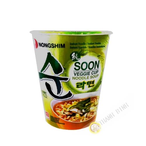 Soupe nouille Soon végétarien Cup NONGSHIM 67g Corée