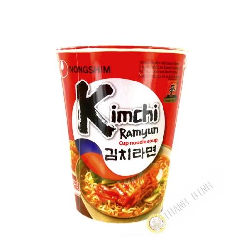 Soupe nouille Kim Chi ramen Cup NONGSHIM 75g Corée