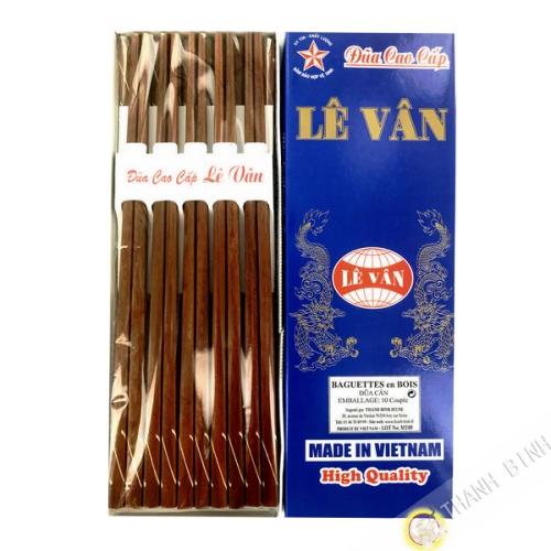 Baguettes en bois 'Go Can' 10 paires Vietnam