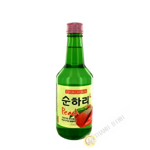 Saké Chamisul Soju Peche JINRU 360ml 12°  Corée