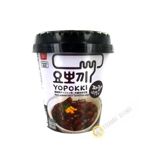 Topokki sauce soja noir Jiajang cup 120g Corée
