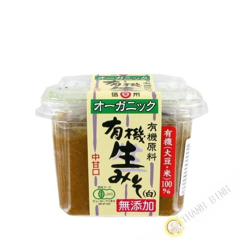 Pâte de miso clair Organic non pastéurisé MARUMAM 500g Japon
