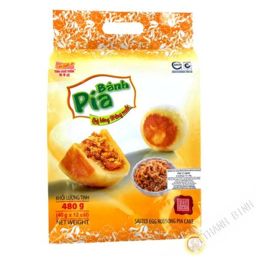 Cake Pia Cha Bong Trung Muoi TAN HUE VIEN 12x40g