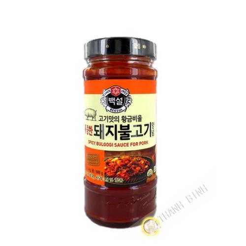 Marinade sauce Bulgogi barbecue pork spicy BEKSUL 500g Korea