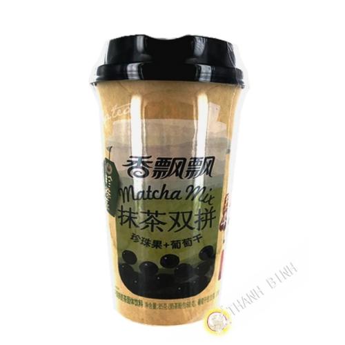 Thé Matcha au lait avec boba et raisins secs 85 g  Chine