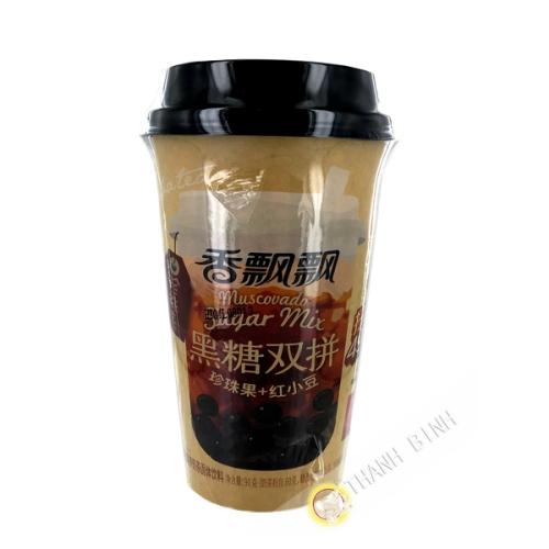 Thé au lait sucre brun avec boba et haricot rouge 90 g  Chine