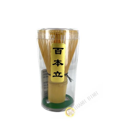 Batidor de té matcha de bambú natural para Chasen