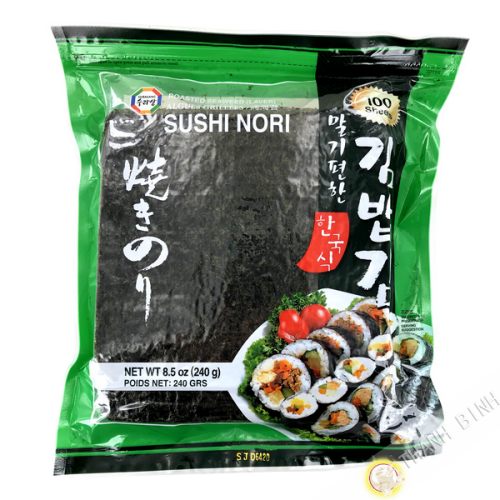 Feuille algue sushi nori SURASANG (100 feuilles) Corée