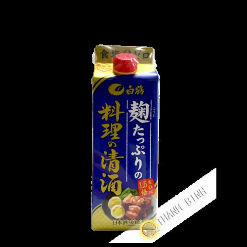 Sake arroz alcohol ryori 13°5 HAKUTSURU 500ml Japón
