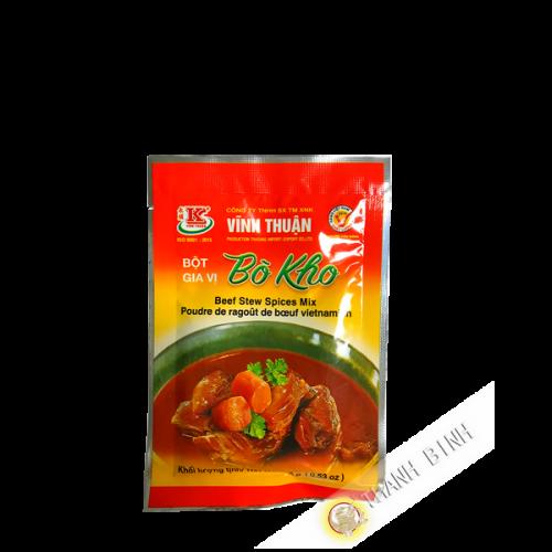 Epice ragoût boeuf bo kho en poudre VINH THUAN 15g Vietnam