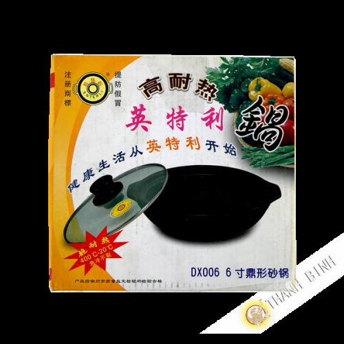 Marmite noire en terre 16cm Chine