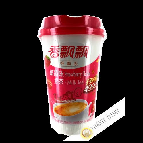 Thé latte au lait saveur fraise 80g Chine