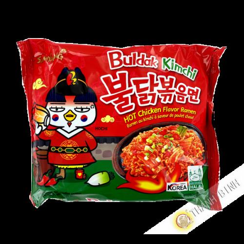 Ramen Nudeln mit kimchi Geschmack Hot Chicken SAMYANG 135G Korea