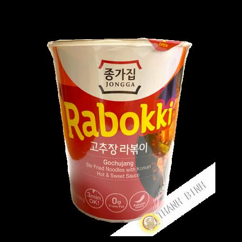 Rabokki gochujang cup JONGGA 86g Corée