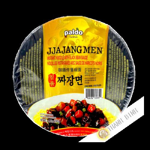 Nouilles instantanées avec sauce d'haricot noir jjajangmen PALDO 190g Corée