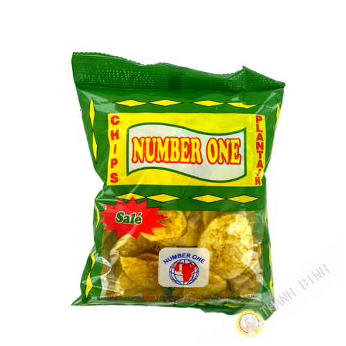Chips banane plantain salé NUMBER ONE 85g COSTA RICA
