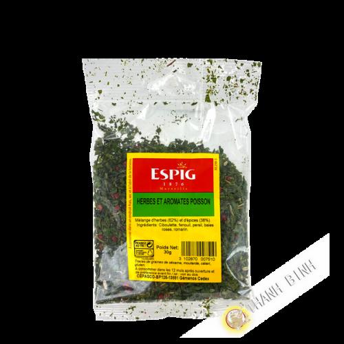 Herbes et arômates poisson 100g ESPIG