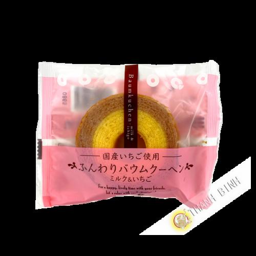Gateau Bamkuchen Mini lait et fraise BAUMKUCHEN 75g Japon