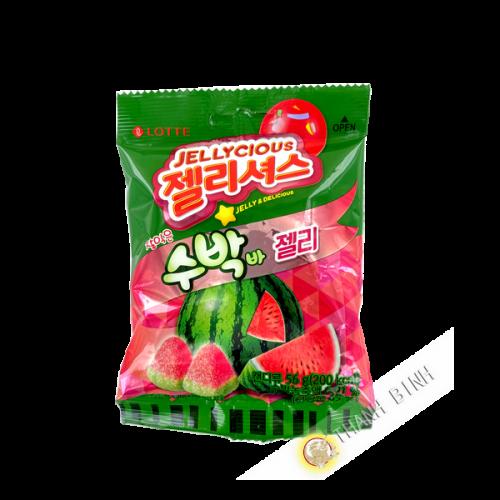 Süßigkeit gummy pasteque LOTTE 56G Korea