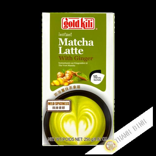 Bebida instantánea Matcha latte con jengibre ORO KILI 250g Singapur
