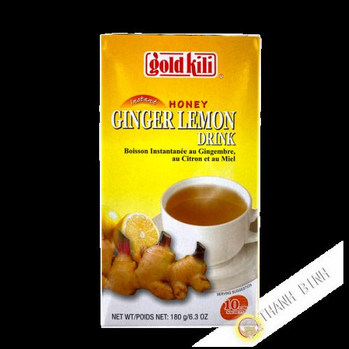 Bebida instantánea de jengibre, limón y miel GOLD KILI 180g Singapur