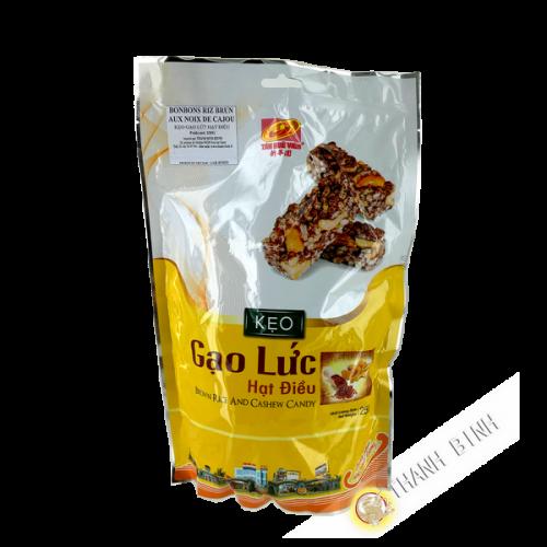 Caramelo de arroz integral con anacardos TAN HUE VIEN 250g Vietnam