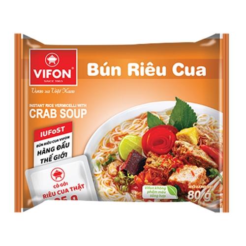 Suppe, nudelsuppe bun rieu cua VIFON 80g Vietnam