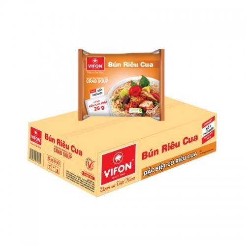 Suppe, bun rieu cua Vifon 30x85g - Viet Nam