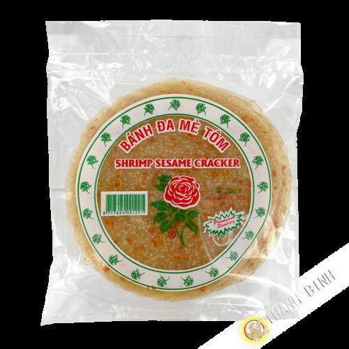 Gateaux aux sésames et aux crevettes ROSE  300g Vietnam