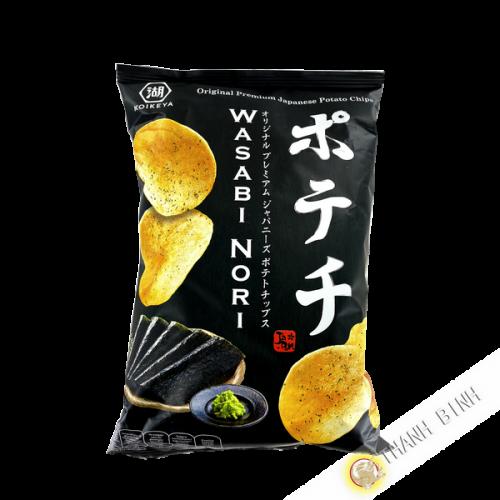 Chips de pommes de terre avec assaisonnement wasabi-nori 100g KOIKEYA Japon