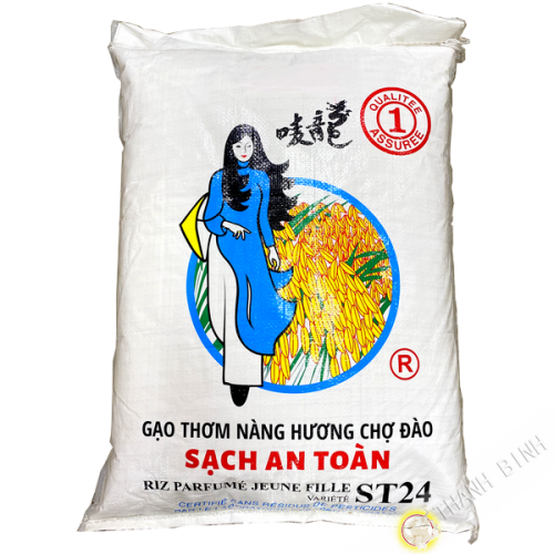 Rice fragrant long-without residues of pesticides GIRL ST24 18kg Vietnam 2020