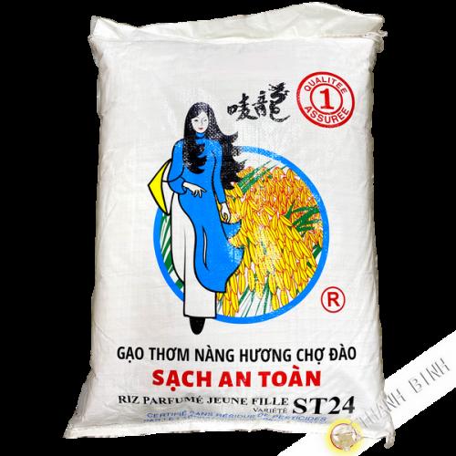 Riz long parfumé sans résidus de pesticides JEUNE FILLE variété ST24 18kgs Vietnam 2020