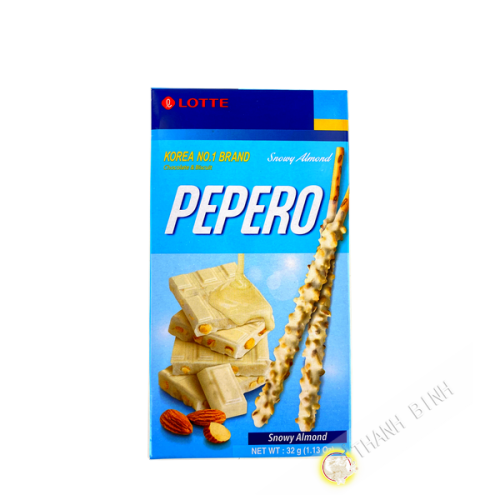 Biscuit pepero crunchy amande LOTTE 32g