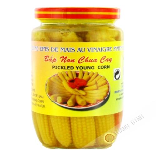 Young corn vinegar spicy DRAGON GOLD 390g Vietnam