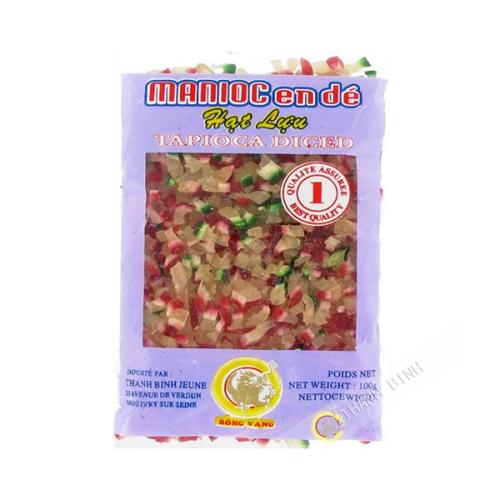 Maniok getrocknet in würfel DRAGON GOLD 100g Vietnam