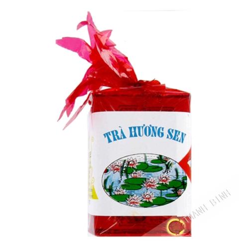 El té de flor de loto, la caja roja del DRAGÓN de ORO 100g de Vietnam