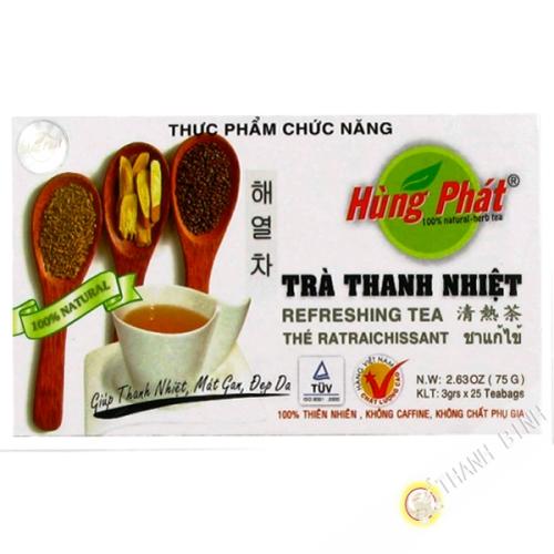 Té verde thanh nhiet VINH TIEN 75g de Vietnam