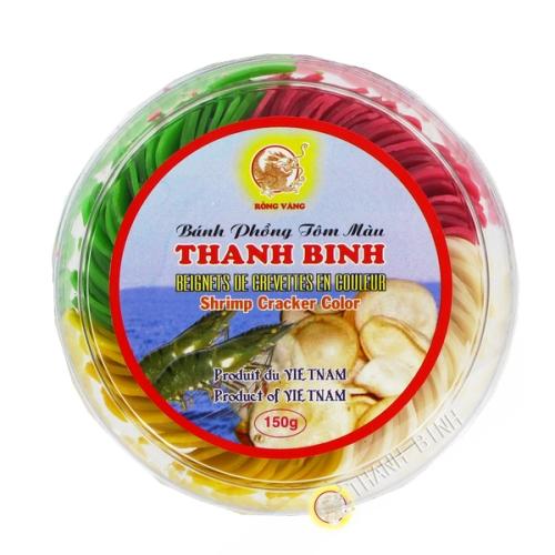 El buñuelo de camarón color del DRAGÓN de ORO 150g de Vietnam