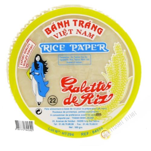 Feuille de riz 22cm pour nems FEUNE FILLE 400g Vietnam