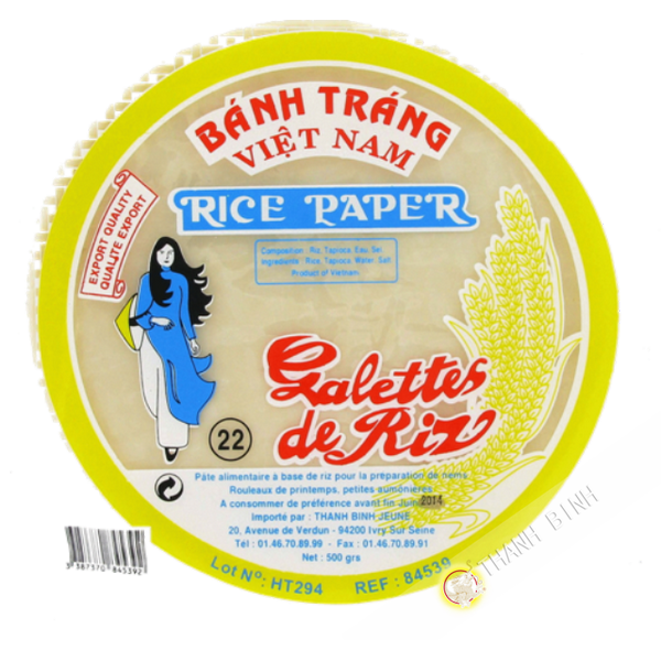Rice paper 22cm for nems FEUNE DAUGHTER 400g Vietnam