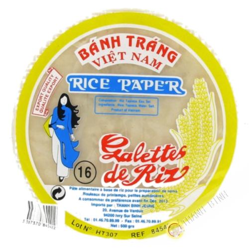 Feuille de riz 16cm pour nems FEUNE FILLE 400g Vietnam