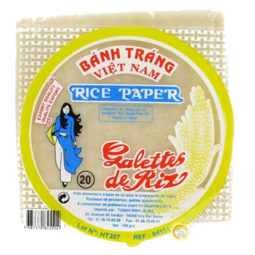 Galette  riz 20cm carre 500g