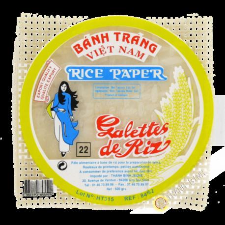 Galette  riz 22cm carre 500g