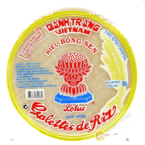 Papel de arroz 28cm para los rollitos de primavera LOTUS 400g de Vietnam
