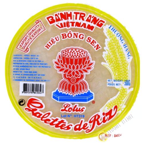 Feuille de riz 22cm pour rouleaux printemps LOTUS 500g Vietnam