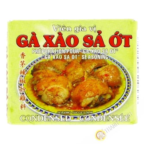 Cubo de pollo salteado hierba de limón y el chile ga xao xa ot BAO LARGO 75g de Vietnam