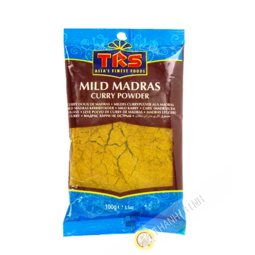Madras curry en poudre mild TRS 100g Inde