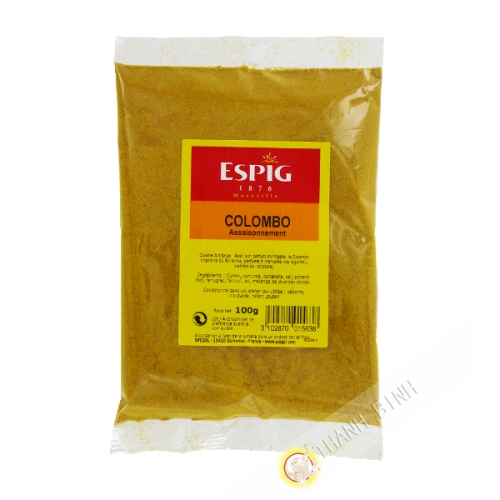 Epices colombo ESPIG 100g France