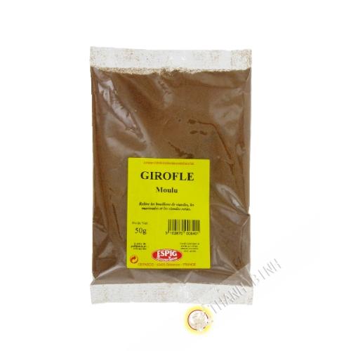 Clavo de olor molido ESPIG 50g Francia