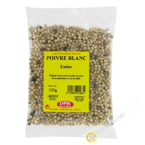 White pepper whole ESPIG 100g France
